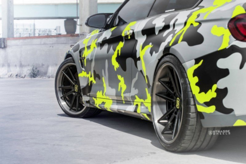 BMW M4 Coupe на дисках от Strasse Wheels
