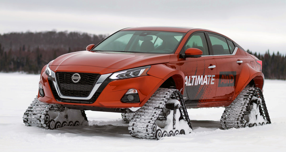 В Канаде построили гусеничный седан Nissan Altimate AWD